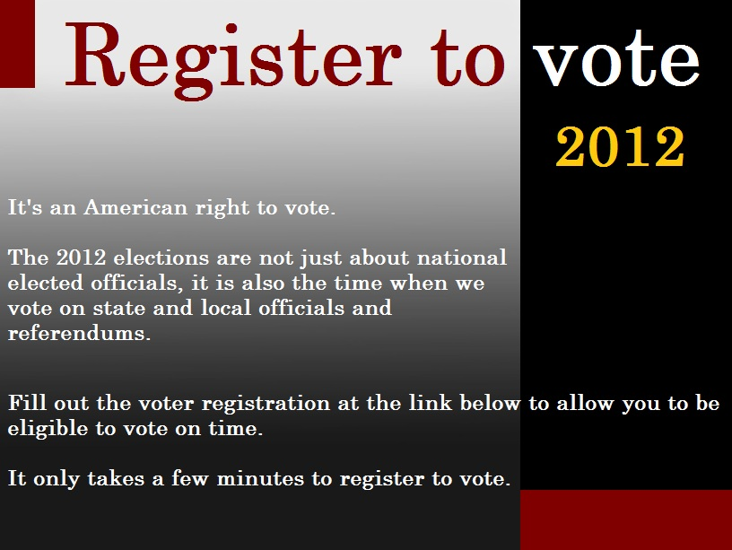 Register to vote in the 2012 elections online here | Dilemma X