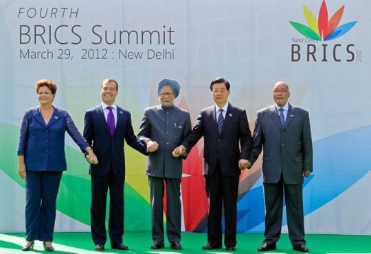 BRICS Brazl, Russia, India, China, South Africa 2012