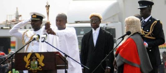 Ghanaian President John Dramani Mahama sworn in