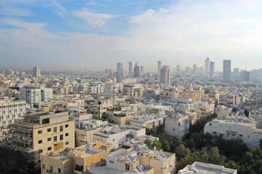 View across Tel Aviv to Ramat Gan