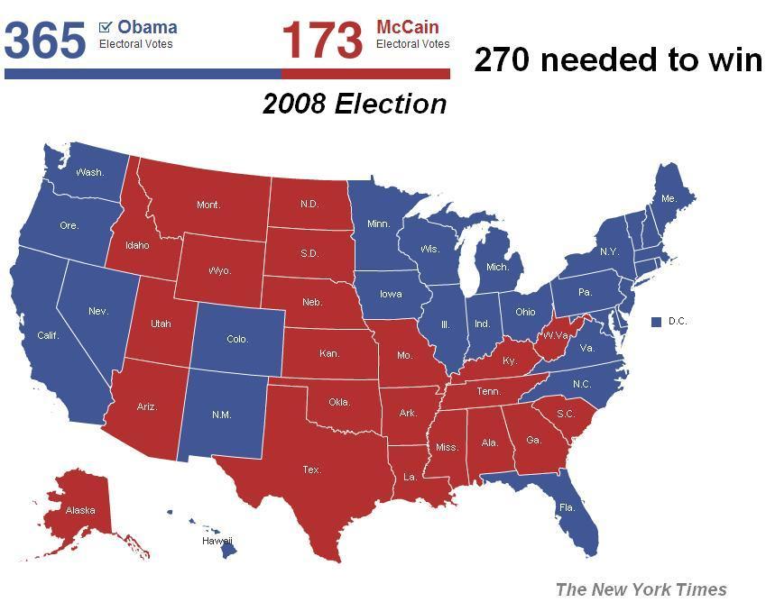electoral vote 2008 - photo #20