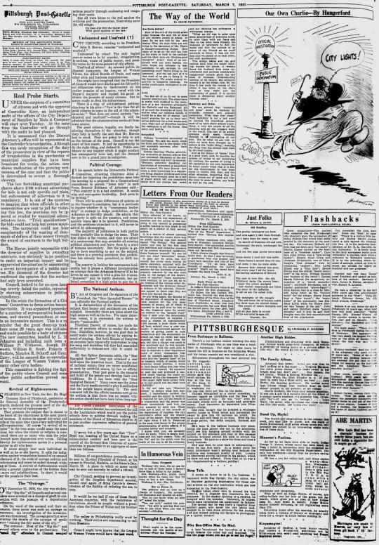 Pittsburgh Post-Gazette Saturday March 7 1931