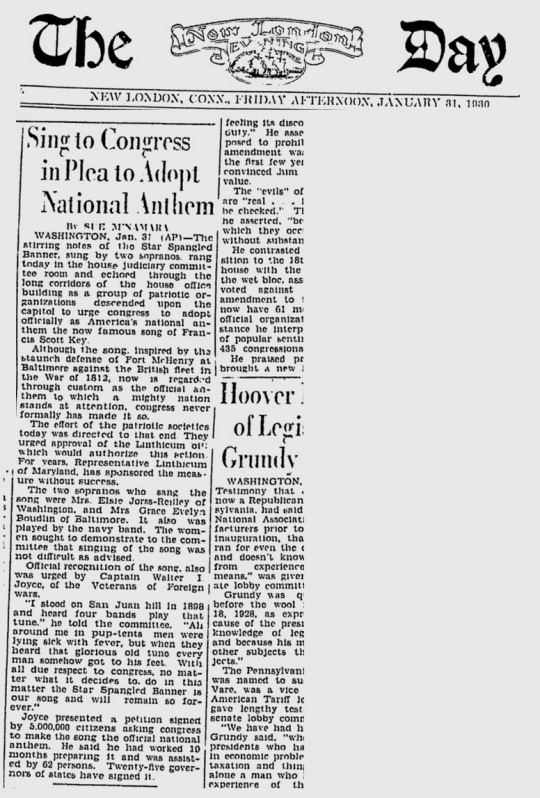 The Day New London Connecticut Jan 31 1930