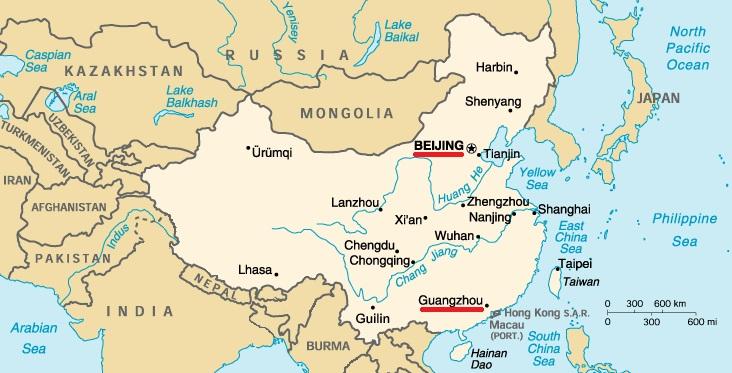 Beijing Guangzhou Map Dilemma X - Guangzhou map