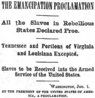 Reason for emancipation proclamation