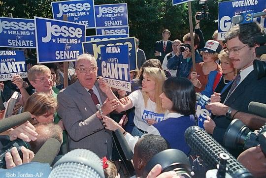 Jesse Helms U.S. Senate race against Gantt