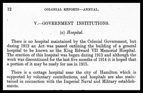 Bermuda Hospital history