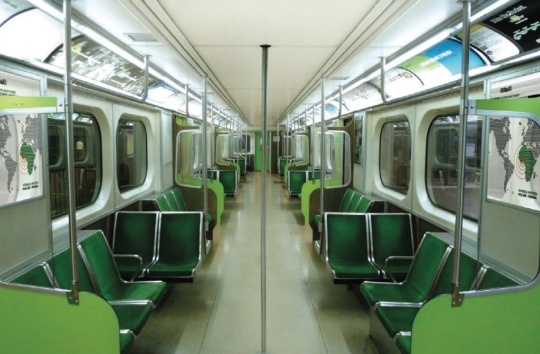 Lagos Light Rail refurbished interior design