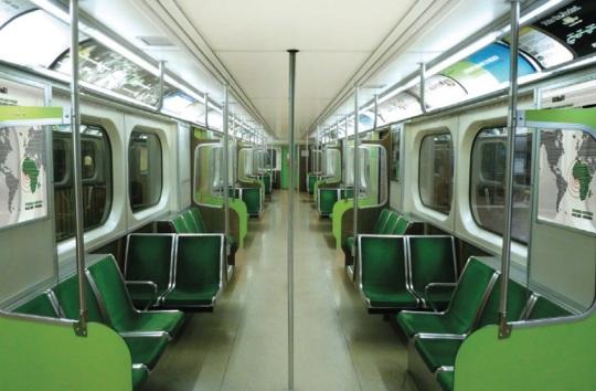 Lagos Light Rail refurbished interior design