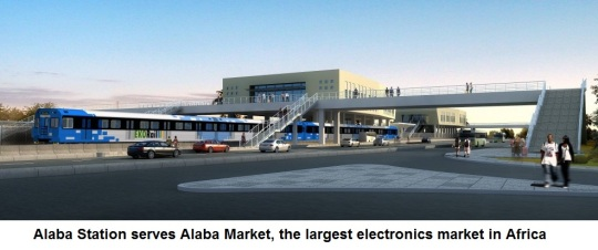 Lagos Light Rail station