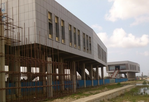 Lagos Light Rail station construction