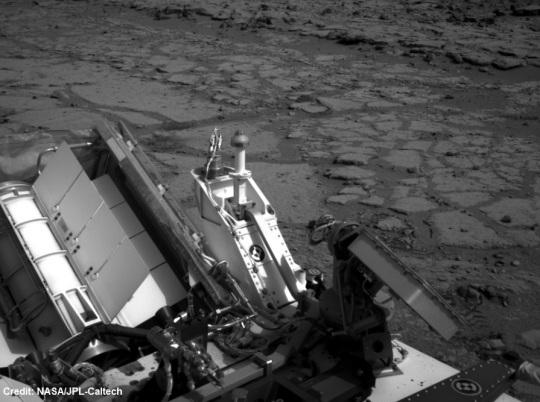 NASA Mars Curiosity Looking Back at Entry Into Yellowknife Bay