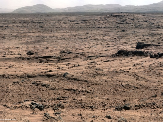 NASA Mars Curiosity Panoramic View From 'Rocknest' Position