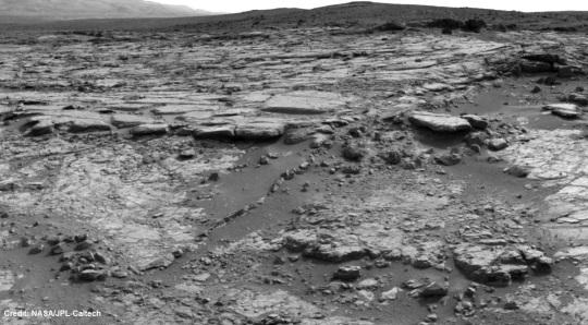 NASA Mars Curiosity Snake River Rock Feature