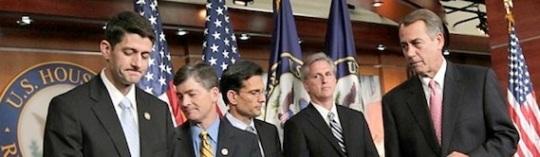 Paul Ryan- Jeb Hensarling -Eric Cantor- Kevin McCarthy- John Boehner