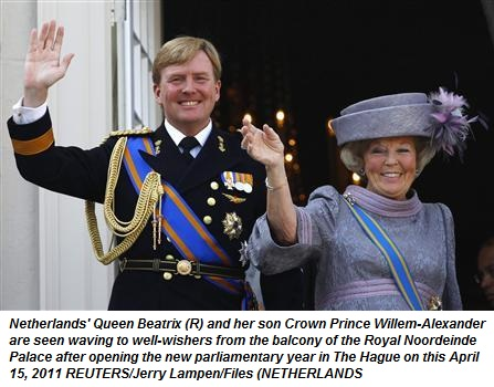 Queen Beatrix and Crown Prince Willem-Alexander