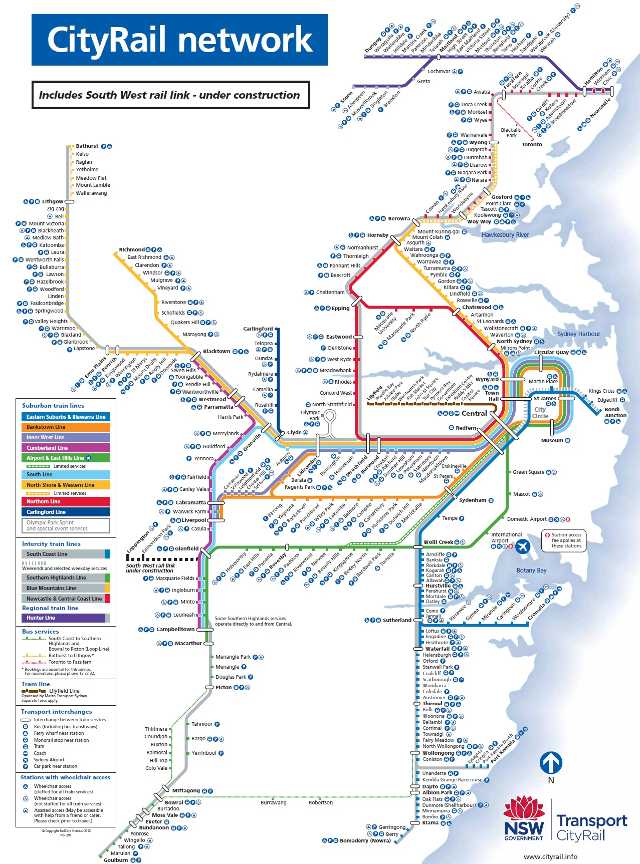 sydney rail network map pdf