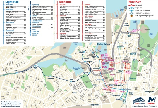 Sydney Metro Light Rail existing map