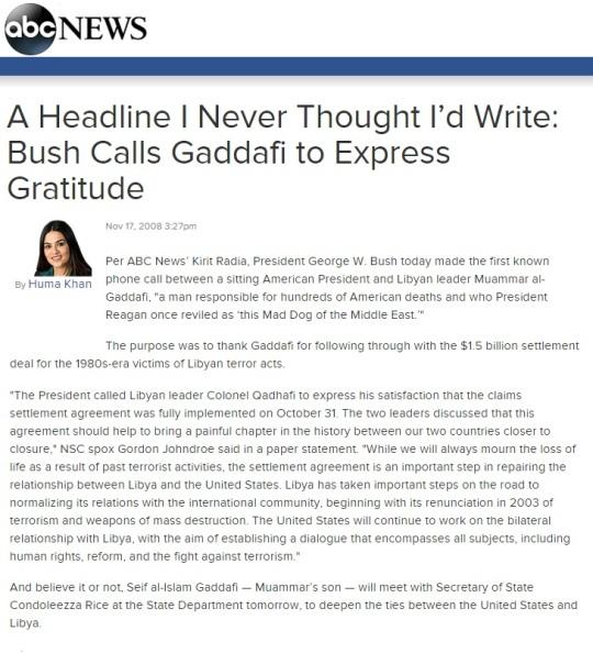 Bush Libya November 17, 2008