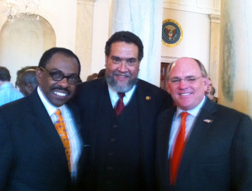 Dr. Gilbert Rochon 6th president of Tuskegee at the White House 2011