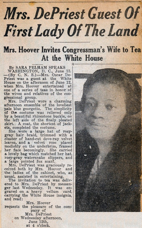 Herbert Hoover and Oscar dePriest Tea