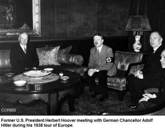 Herbert Hoover meeting with Adolf Hitler