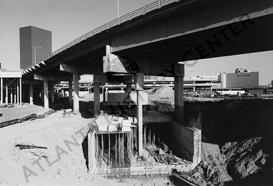 MARTA Coliseum Station Construction
