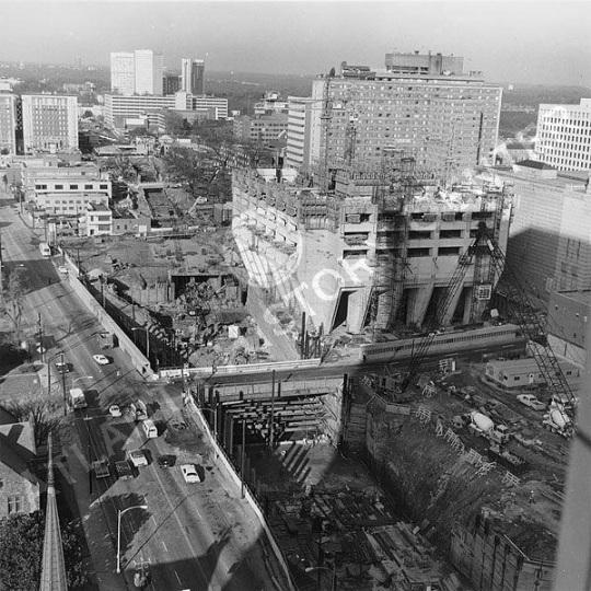 MARTA North-South Midtown subway construction