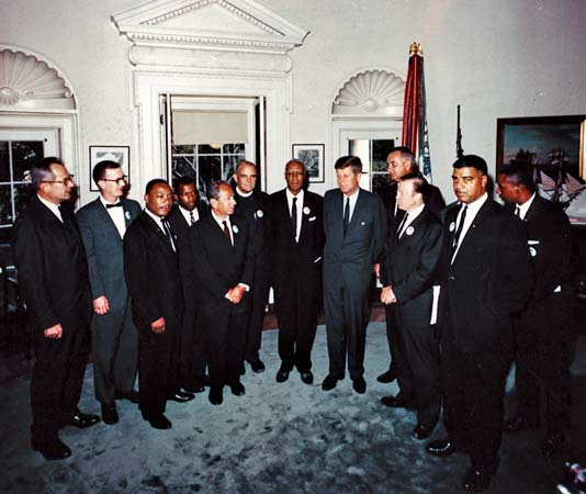 Martin Luther King Jr. meeting with President Kennedy August 28, 1963