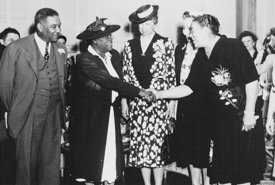 Mary McLeod Bethune with First Lady Eleanor Roosevelt
