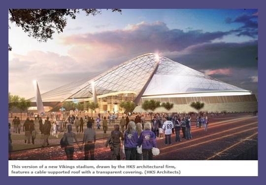 Minneapolis -Minnesota Vikings Stadium design concept