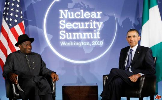 Nigeria's President Goodluck Jonathan and U.S. President Barack Obama