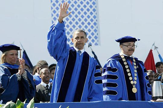 President Barack Obama commencement address at Hampton University 2010 a