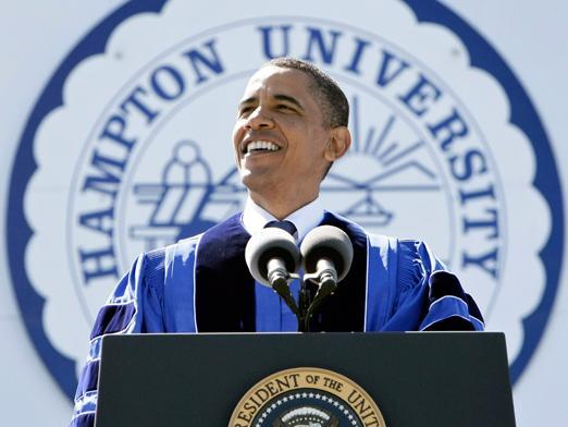 President Barack Obama commencement address at Hampton University 2010