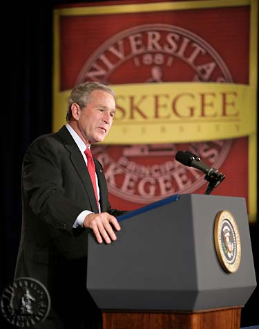 President George W. Bush visits Tuskegee University April 19, 2006