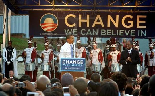 Senator Barack Obama North Carolina Central University presidential campaign stop in 2007