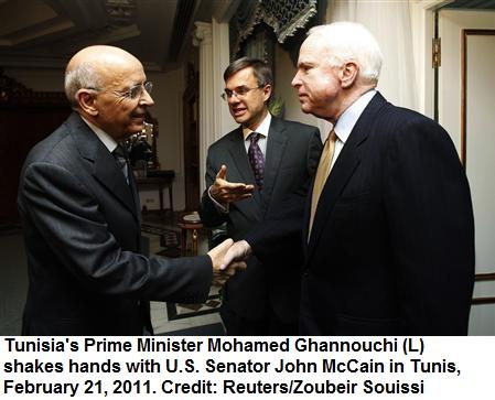 Senator John McCain in Tunisia