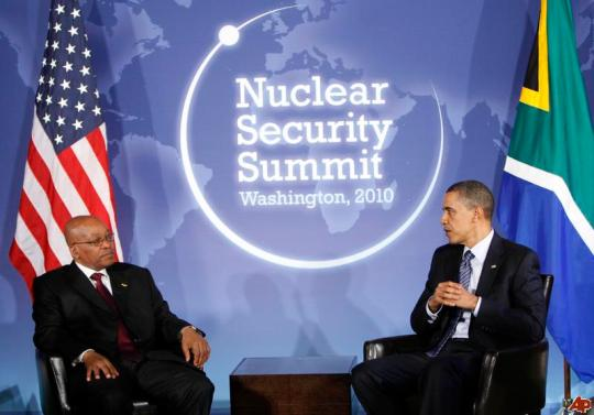 South Africa President Jacob Zuma and U.S. President Obama