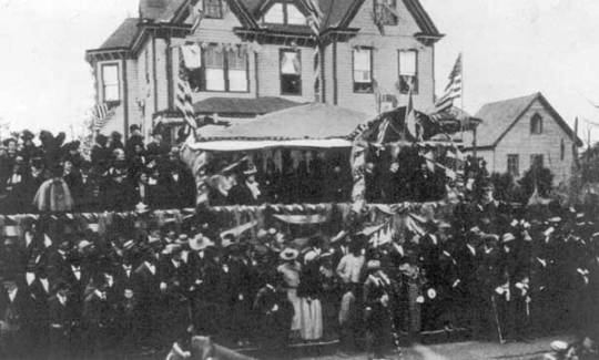 William Mckinley visits Tuskegee 1898