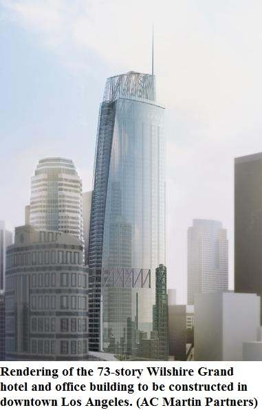 ... the West Coast will be the new Wilshire Grand at 73 stories 1099 feet