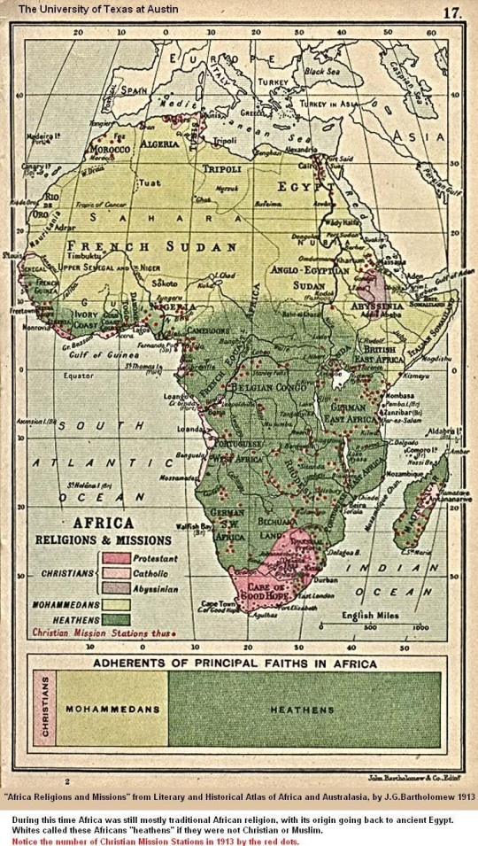 Religion in Africa 1913 map
