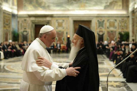Patriarch Bartholomew and Pope Francis