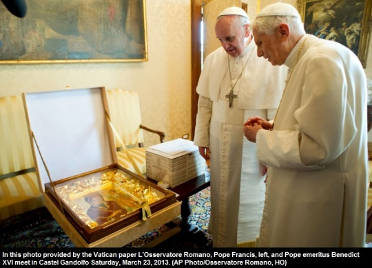 Pope Francis and Pope Emeritus Benedict XVI