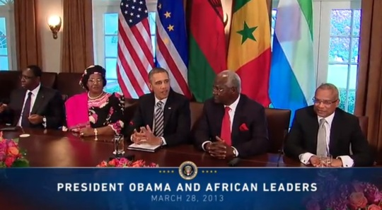 President Obama meets with African leaders March 28, 2013