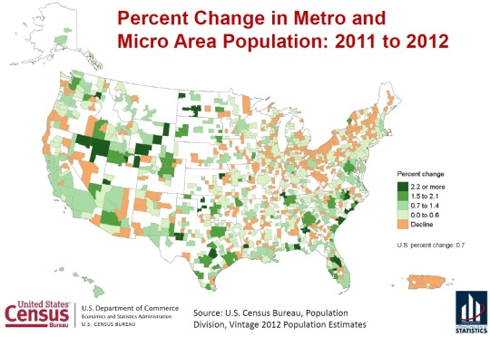 U.S. Metro Population Change 2011 to 2012