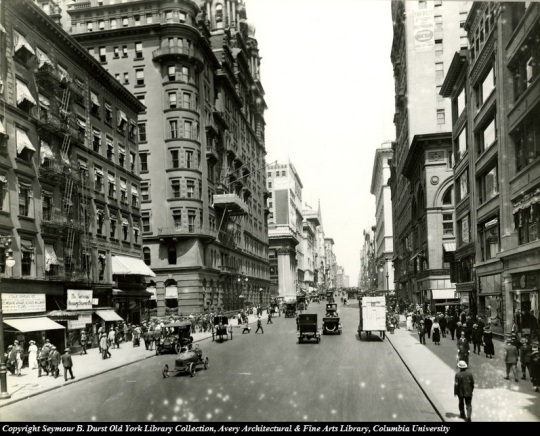 Fifth Avenue from 33rd Street -Waldorf-Astoria Hotel