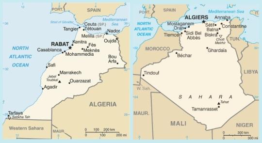 Morocco and Algeria