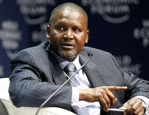 Aliko Dangote, President and CEO of Nigeria's Dangote Group speaks during the final session of the World Economic Forum