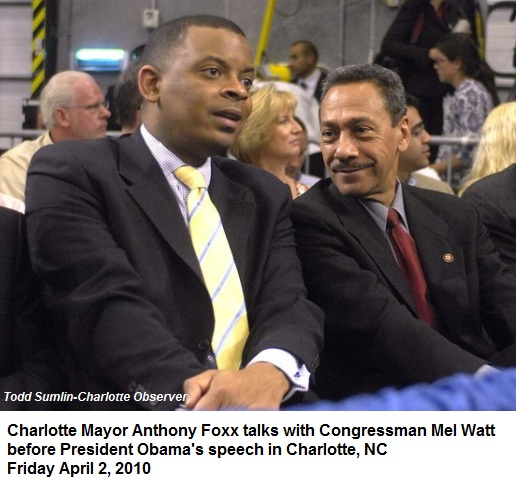 Congressman Mel Watt and Mayor Anthony Foxx