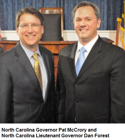 North Carolina Governor Pat McCrory and NC Lieutenant Governor Dan Forest